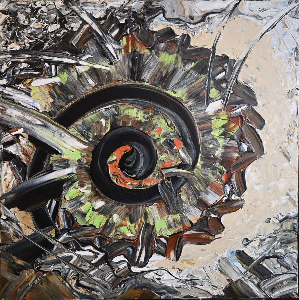 Spiral abstract shell painting by David K. Austin - David Austin Gallery