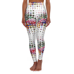 Open image in slideshow, A Collage In Pieces High Waisted Yoga Leggings - David Austin Gallery