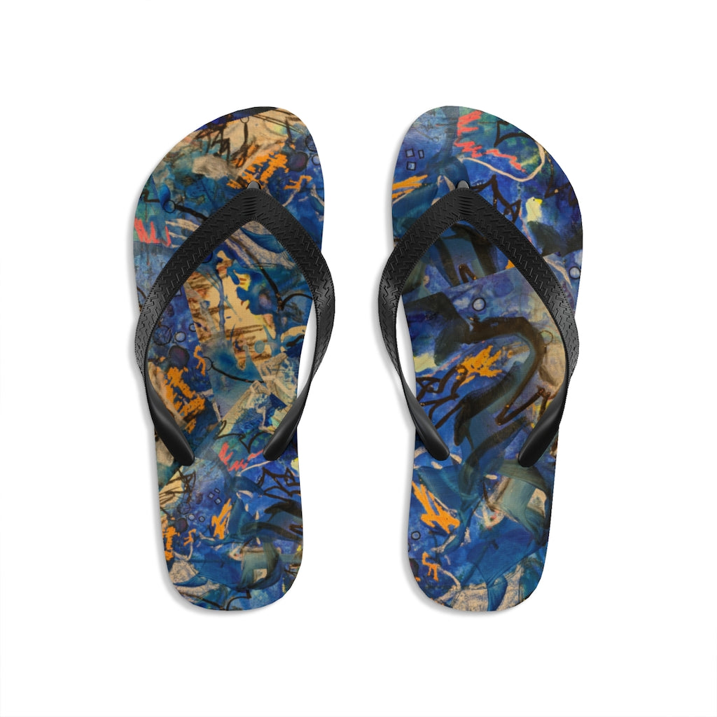 """Imagination Runs"" Unisex Flip-Flops - David Austin Gallery"