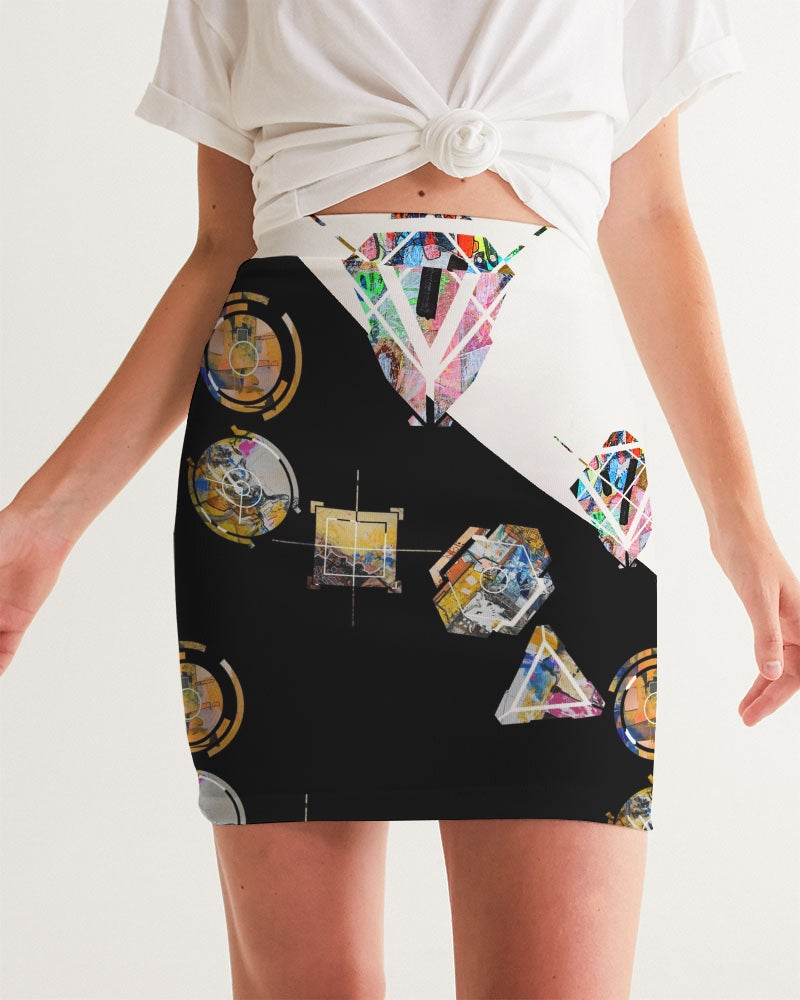 Time Cycle Series #1 Women's Mini Skirt - David Austin Gallery