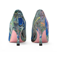 """Leopard In Pink"" Women's High Heels - David Austin Gallery"