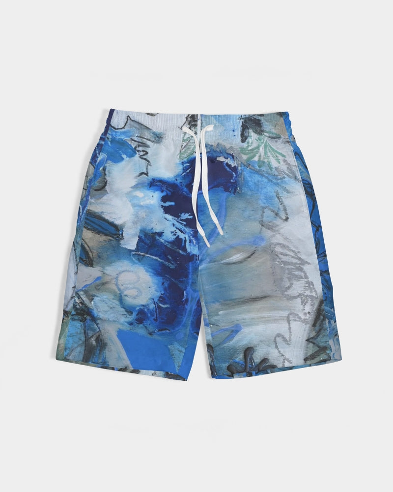 """Blue Lily"" Boy's Swim Trunk - David Austin Gallery"