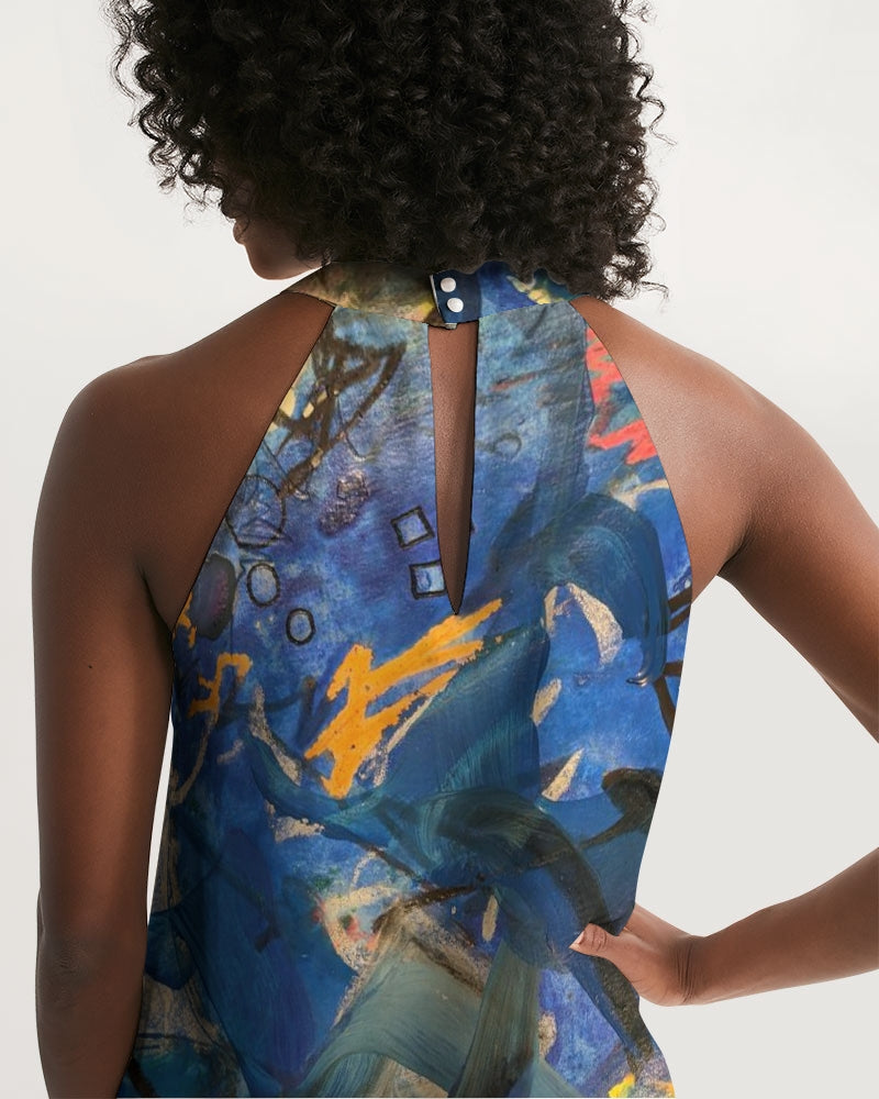 """Imagination Runs"" Women's Halter Dress - David Austin Gallery"