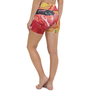"""Daylight"" Athletic Yoga Shorts - David Austin Gallery"