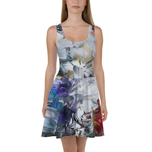 "Open image in slideshow, ""Shadow"" Skater Dress - David Austin Gallery"