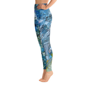 "Full Length Yoga Leggings ""Day At The Beach"" - David Austin Gallery"