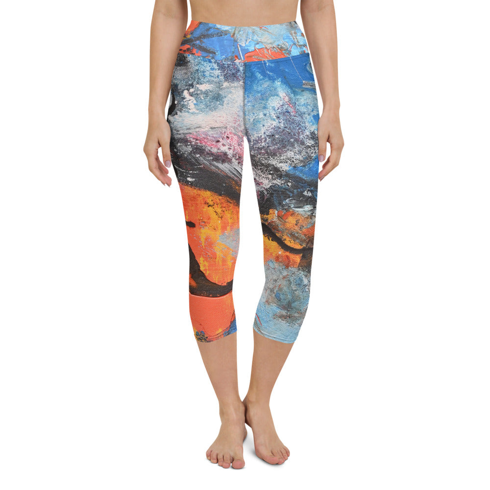"""Ta-Da"" Yoga Capri Leggings - David Austin Gallery"