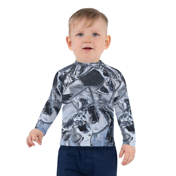 """Black and White and..."" Kids Rash Guard - David Austin Gallery"