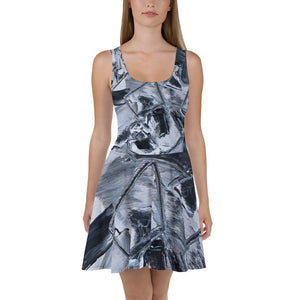 "Open image in slideshow, ""Black"" Summer Skater Dress Original Design David K. Austin - David Austin Gallery"