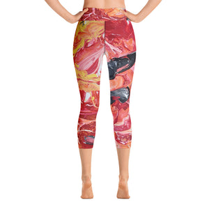 """Daylight"" Athletic Yoga Capri Leggings - David Austin Gallery"