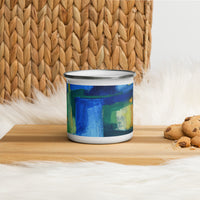 Vibrant Enamel Mug Featuring Sharyn Austin Design - David Austin Gallery