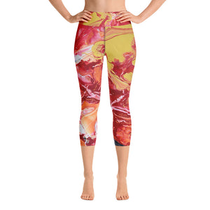 "Open image in slideshow, ""Daylight"" Athletic Yoga Capri Leggings - David Austin Gallery"