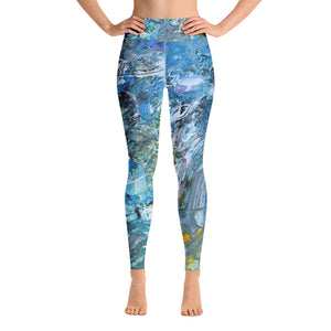 "Open image in slideshow, Full Length Yoga Leggings ""Day At The Beach"" - David Austin Gallery"