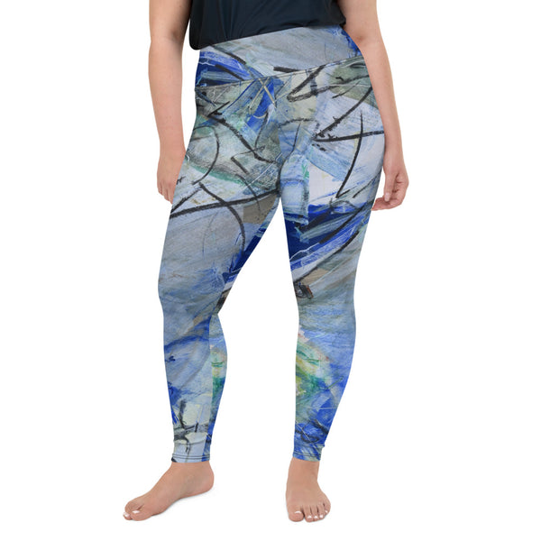 """Lake"" Every Size Leggings - David Austin Gallery"