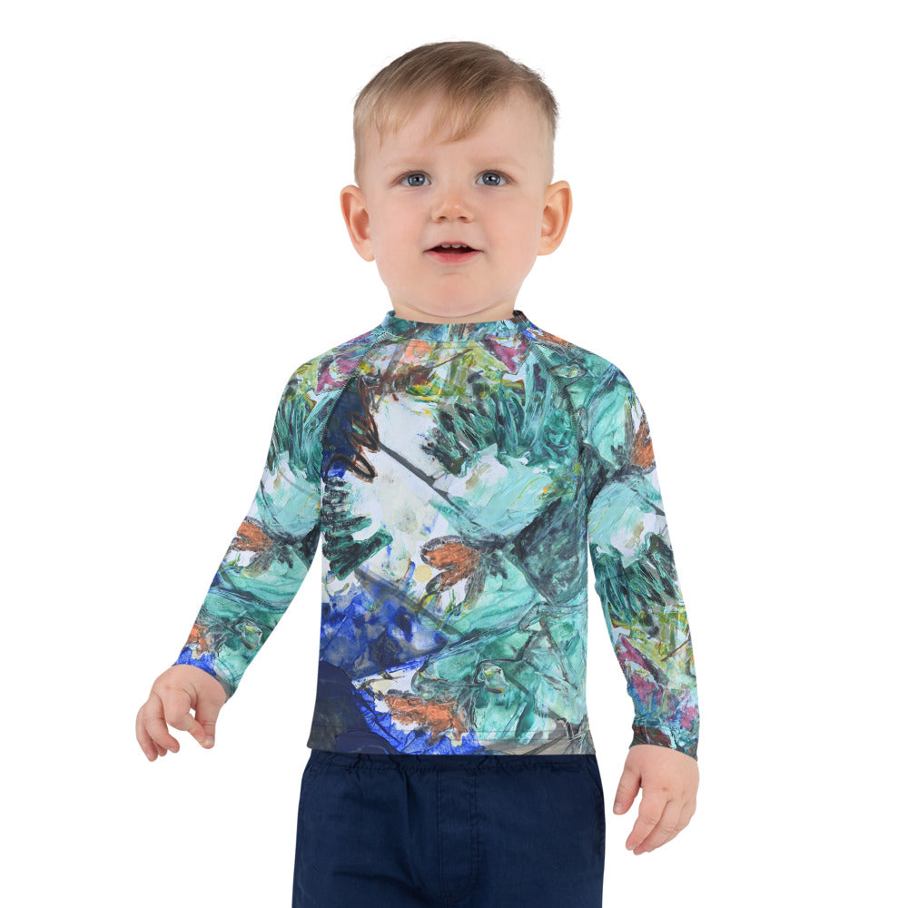 """Butterfly In the Grass"" Kids Rash Guard - David Austin Gallery"