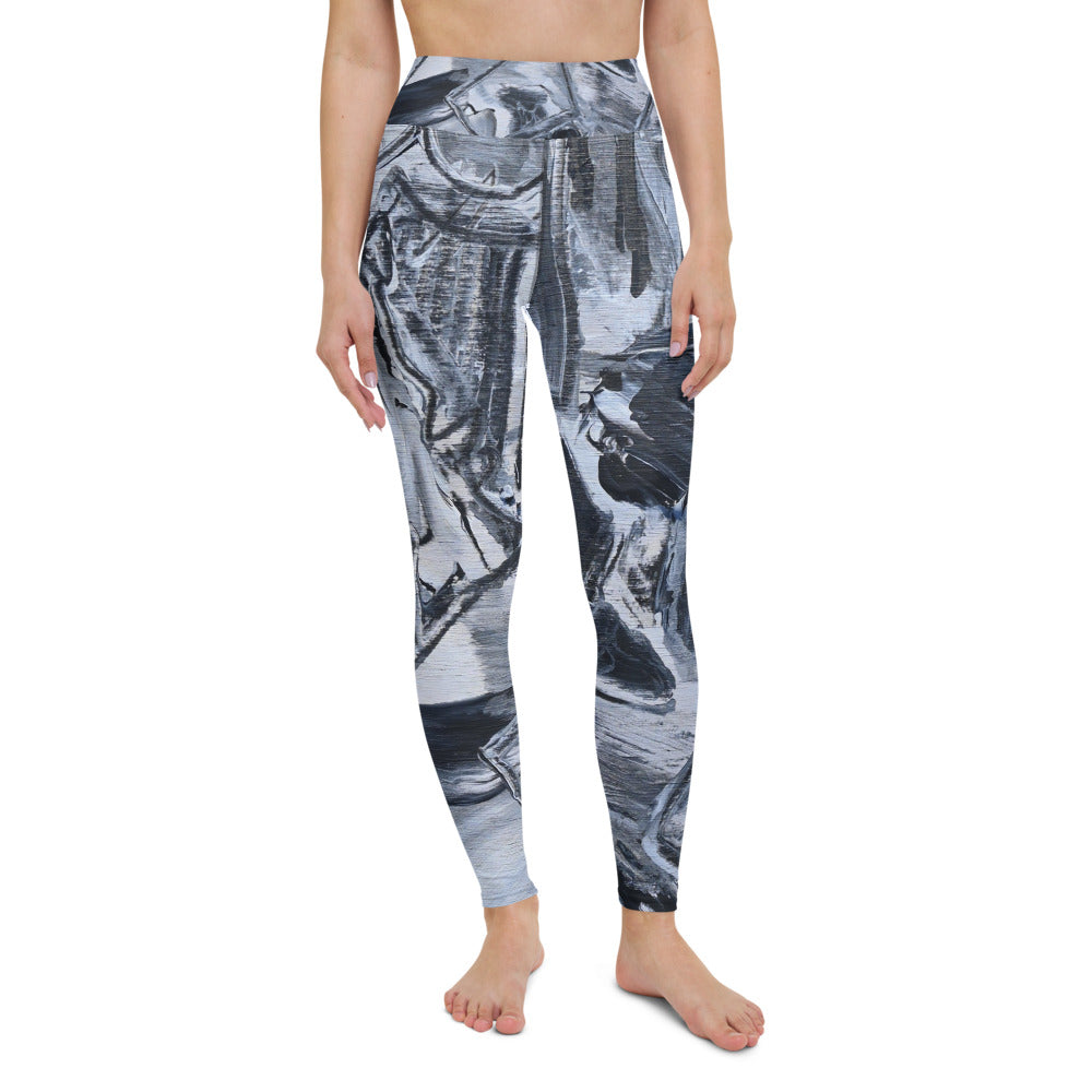 "Full Length Yoga Leggings ""Black and White"" - David Austin Gallery"