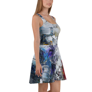 """Shadow"" Skater Dress - David Austin Gallery"