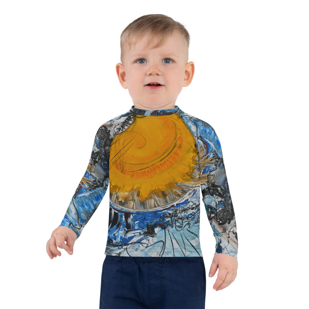 """Sunny"" Kids Rash Guard - David Austin Gallery"