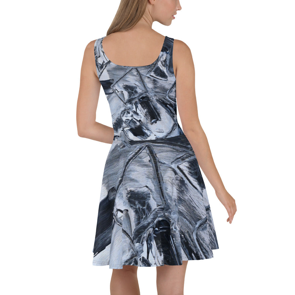 """Black"" Summer Skater Dress Original Design David K. Austin - David Austin Gallery"