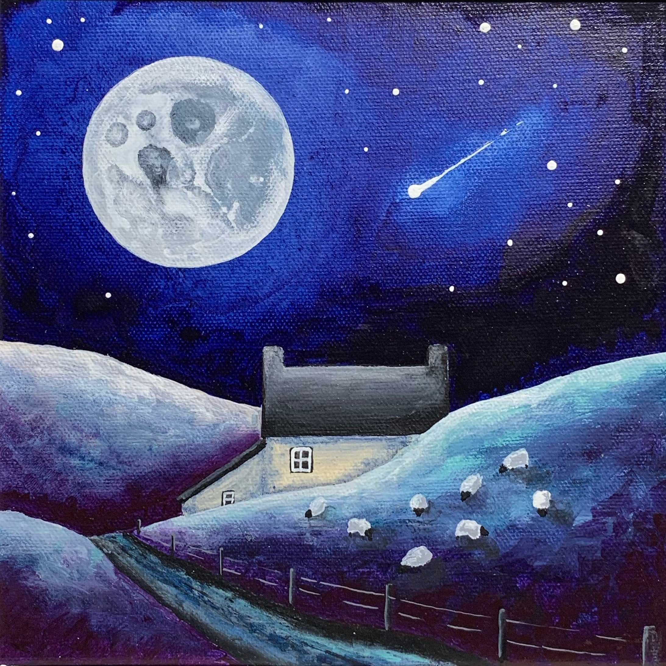 Grazing Under the Moonlight - Limited Edition Print