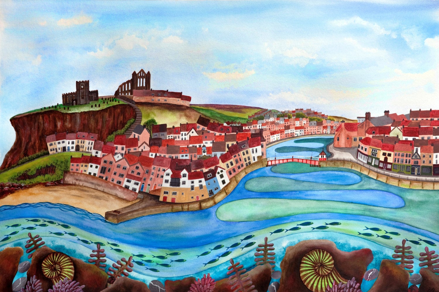 Sitting Pretty - Whitby - Limited Edition Print