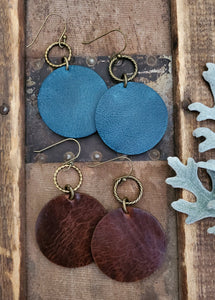 Christine Leather Earrings
