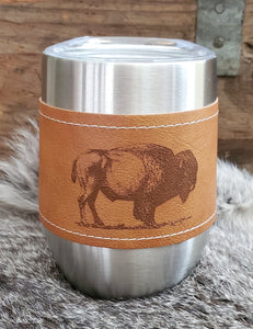 Leather Wrapped Tumbler