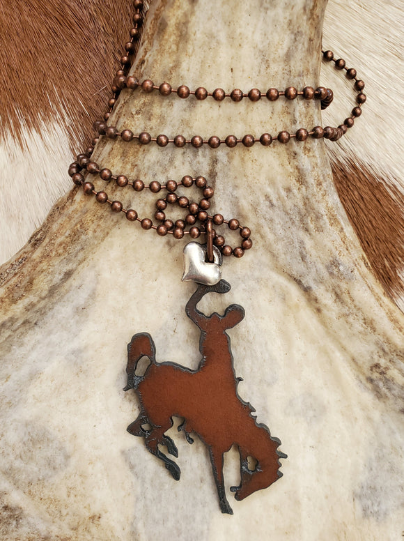 Wyoming Cowboys Necklace