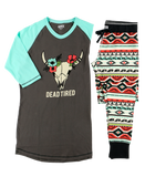 Women's Pajama Top Dead Tired