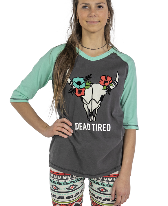 Dead Tired Pajama Top