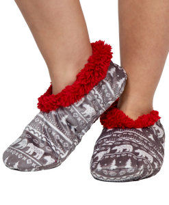 Nordic Bear Fuzzy Feet Slippers