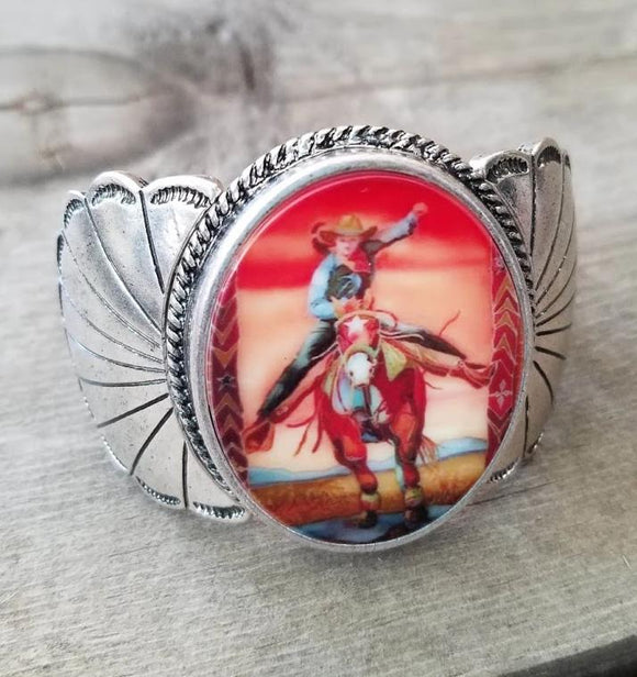 Galloping Cowgirl Stretch Bracelet