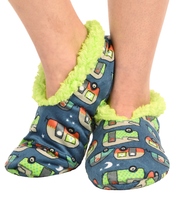 Happy Camper Fuzzy Feet Slippers
