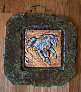 Galloping Horse Stone Decor