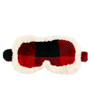 Red Plaid Sherpa Sleep Mask