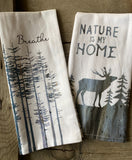Breathe & Nature tea towel