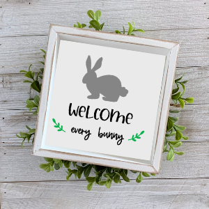 Welcome Every Bunny-Hello Spring Stencil