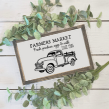 Load image into Gallery viewer, Farmers Market Truck Reusable Stencil