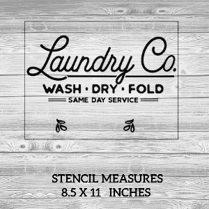 Laundry Co Reusable Stencil