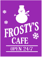 Load image into Gallery viewer, Frosty's Cafe Reusable Stencil Kit