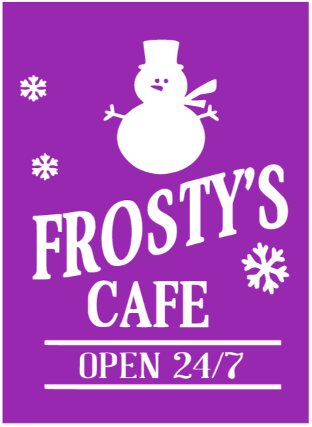Frosty's Cafe Reusable Stencil