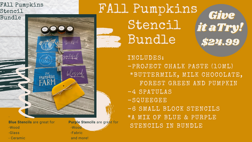 Fall Pumpkins Stencil Bundle 2