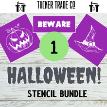 Load image into Gallery viewer, Halloween Reusable Stencils | Bundle