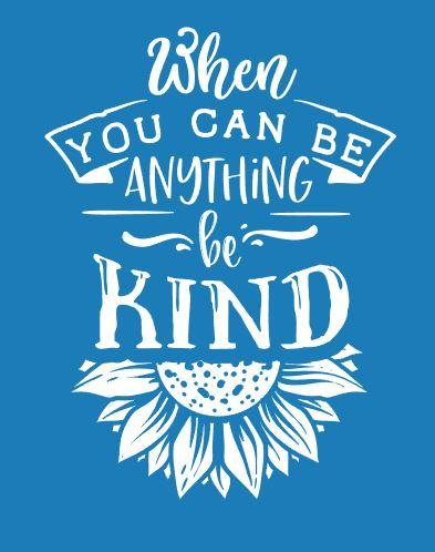 Be Kind Sunflower Reusable Stencil