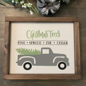 Reversible Holiday Truck Sign