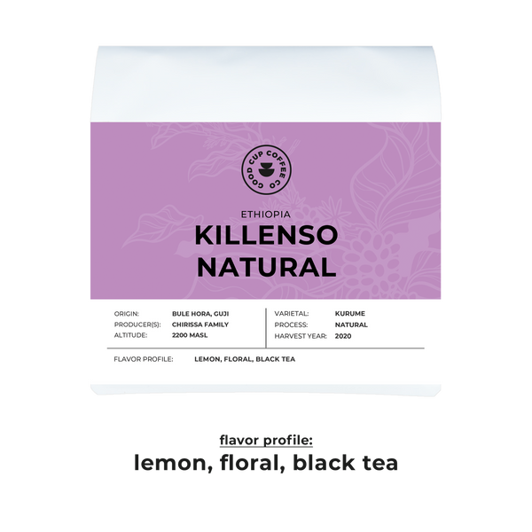 Ethiopia Killenso Natural - Espresso or Filter