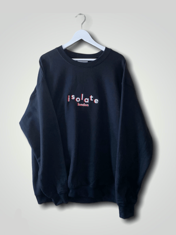 CORE BLACK CREW JUMPER - isolateldn