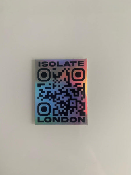 ISOLATE QR CODE STICKER - isolateldn