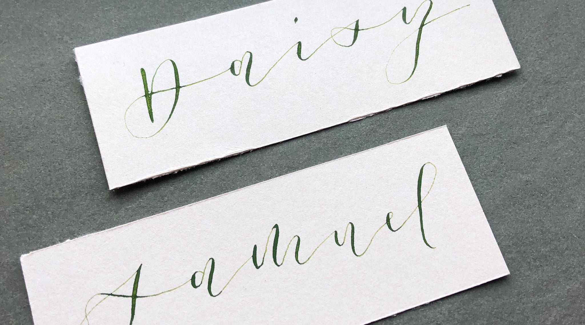 Hand Lettering Calligraphy Name Cards Personal Service
