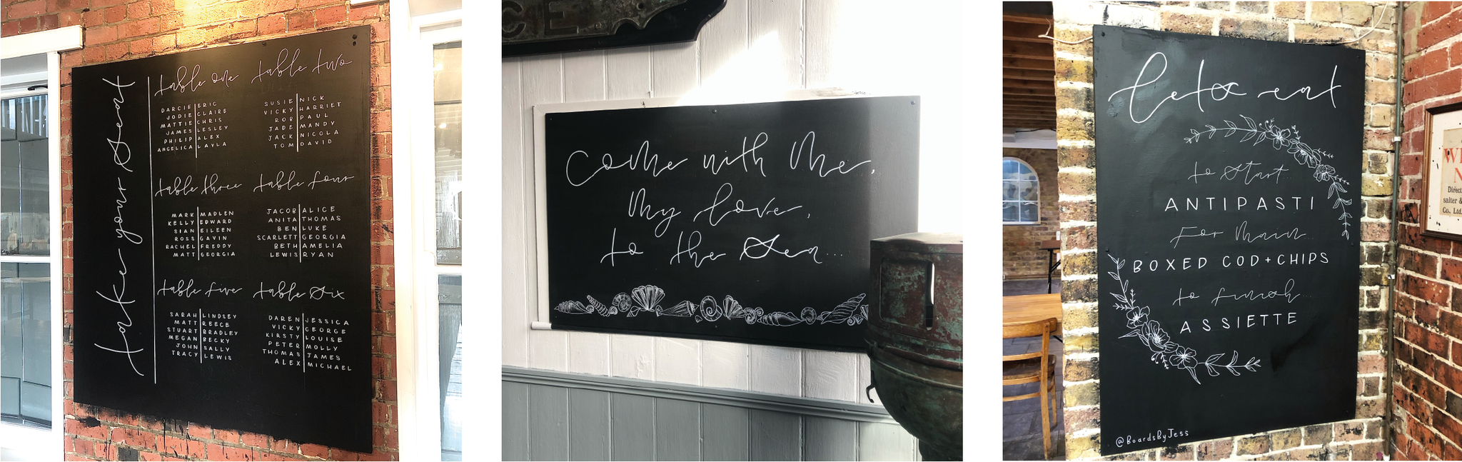 Chalkboard Lettering Design Kent Boards By Jess